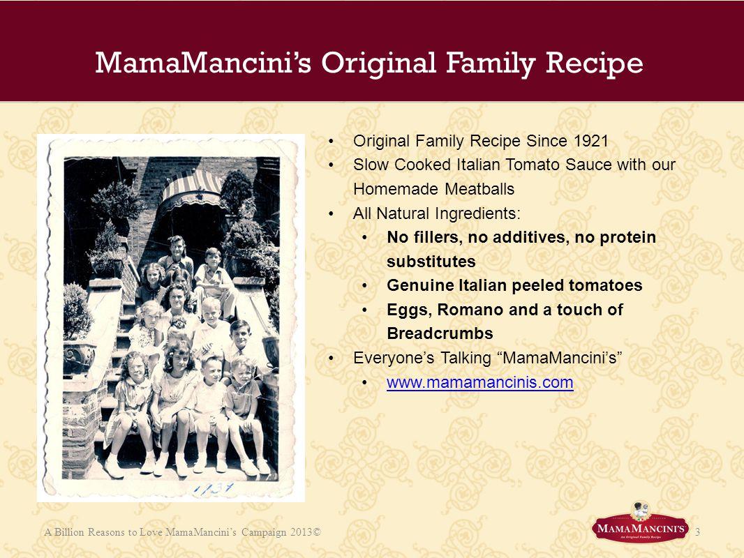 MamaMancini's Original Family Recipe