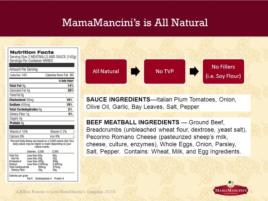 MamaMancini's is All Natural