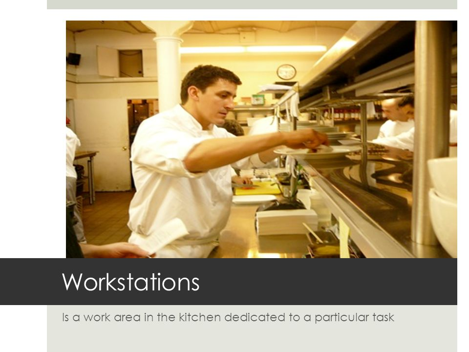 Is a work area in the kitchen dedicated to a particular task
