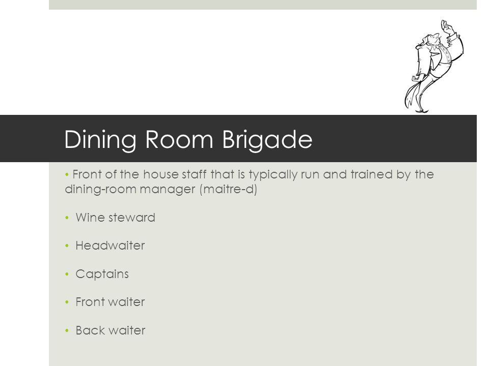 Dining Room Supervisor Meaning