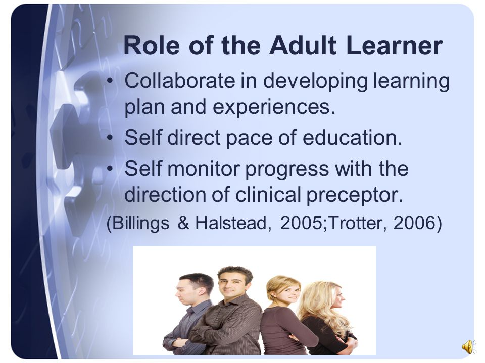 Role of the Adult Learner