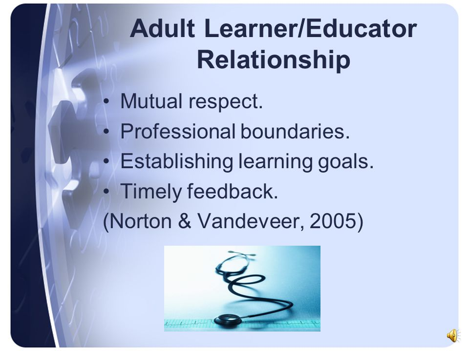 Adult Learner/Educator Relationship