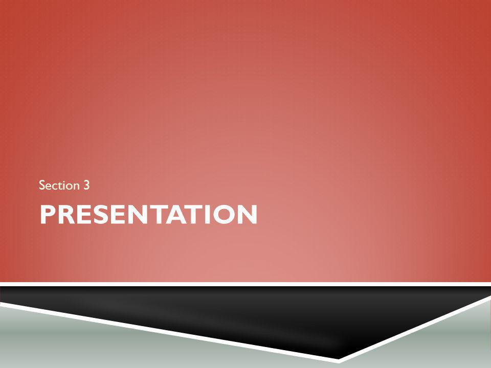 Section 3 Presentation