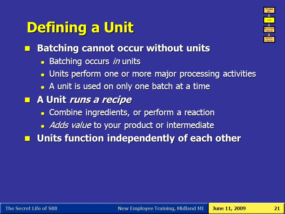 Defining a Unit Batching cannot occur without units