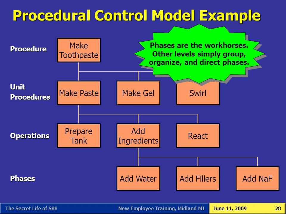 Procedural Control Model Example