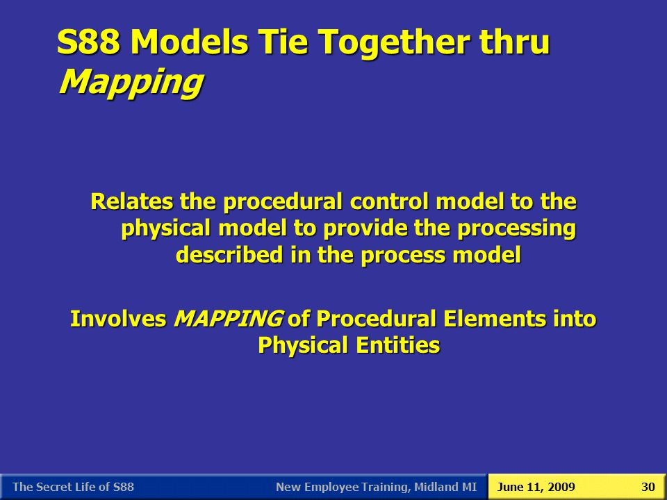 S88 Models Tie Together thru Mapping