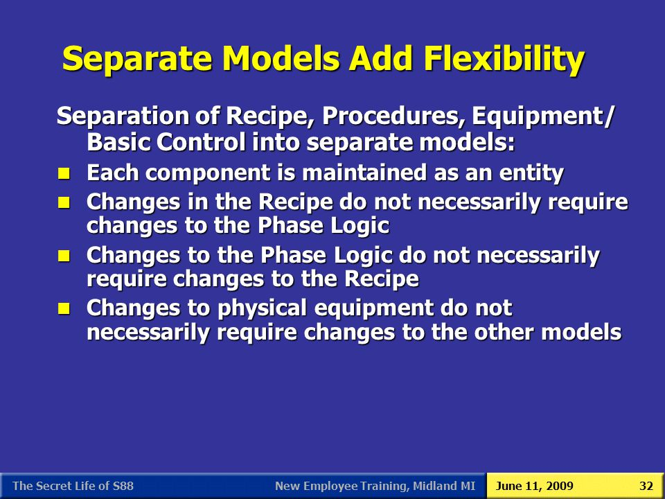 Separate Models Add Flexibility