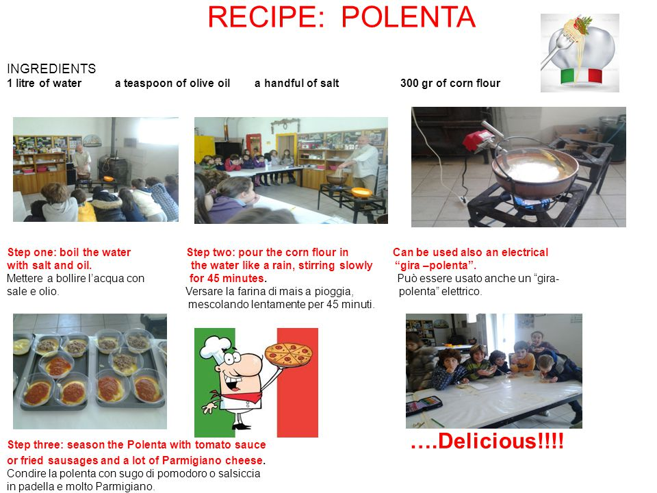 RECIPE: POLENTA INGREDIENTS