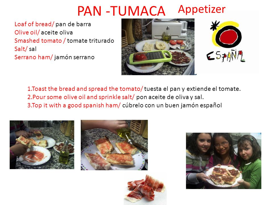 PAN -TUMACA Appetizer Loaf of bread/ pan de barra
