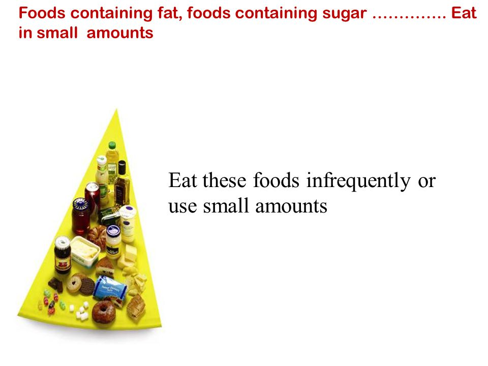 Eat these foods infrequently or use small amounts