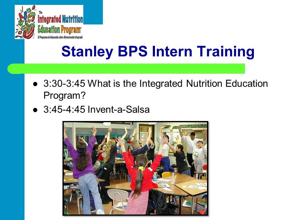Stanley BPS Intern Training