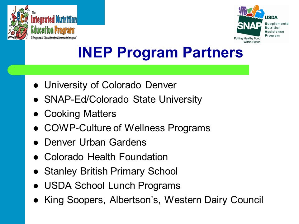 INEP Program Partners University of Colorado Denver
