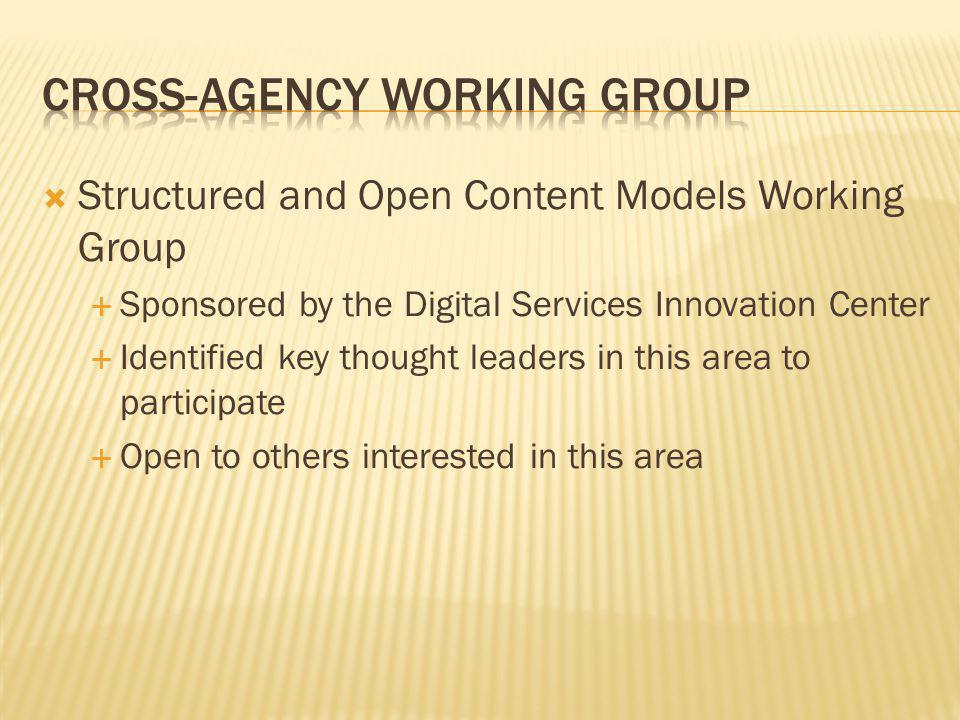 Cross-Agency Working Group