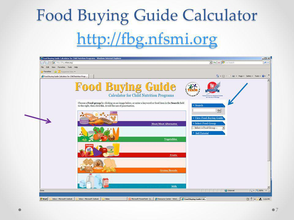 Food Buying Guide Calculator http://fbg.nfsmi.org