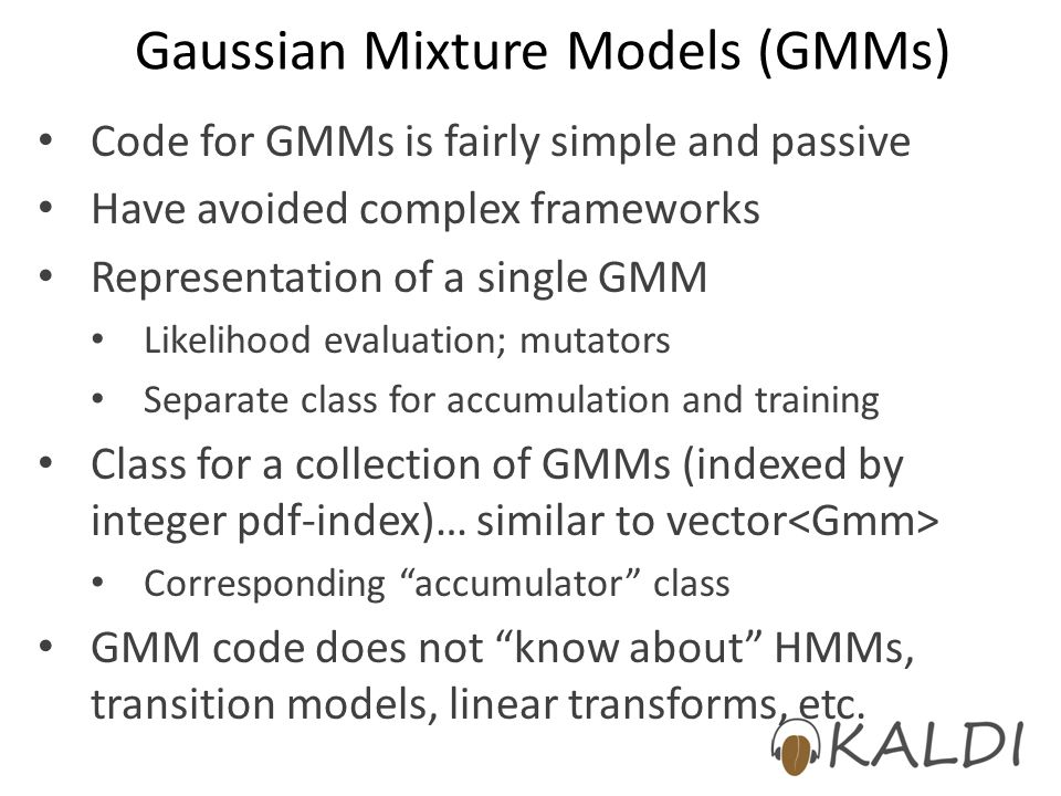 Gaussian Mixture Models (GMMs)
