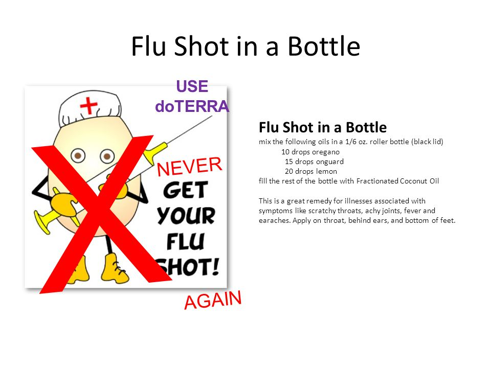X Flu Shot in a Bottle NEVER AGAIN USE doTERRA Flu Shot in a Bottle