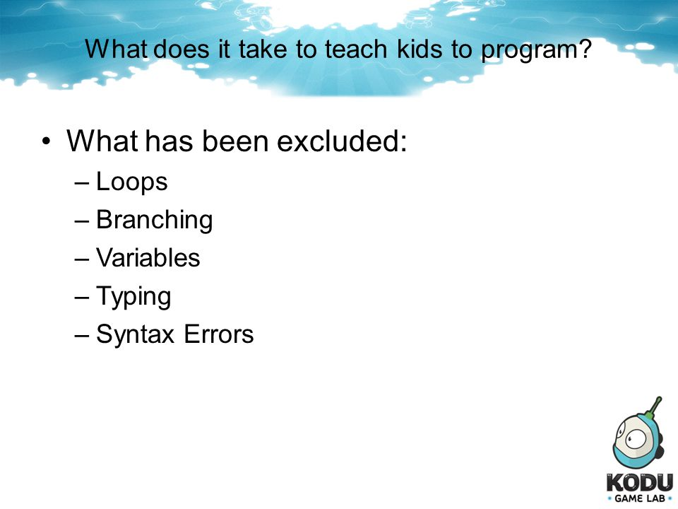 What does it take to teach kids to program