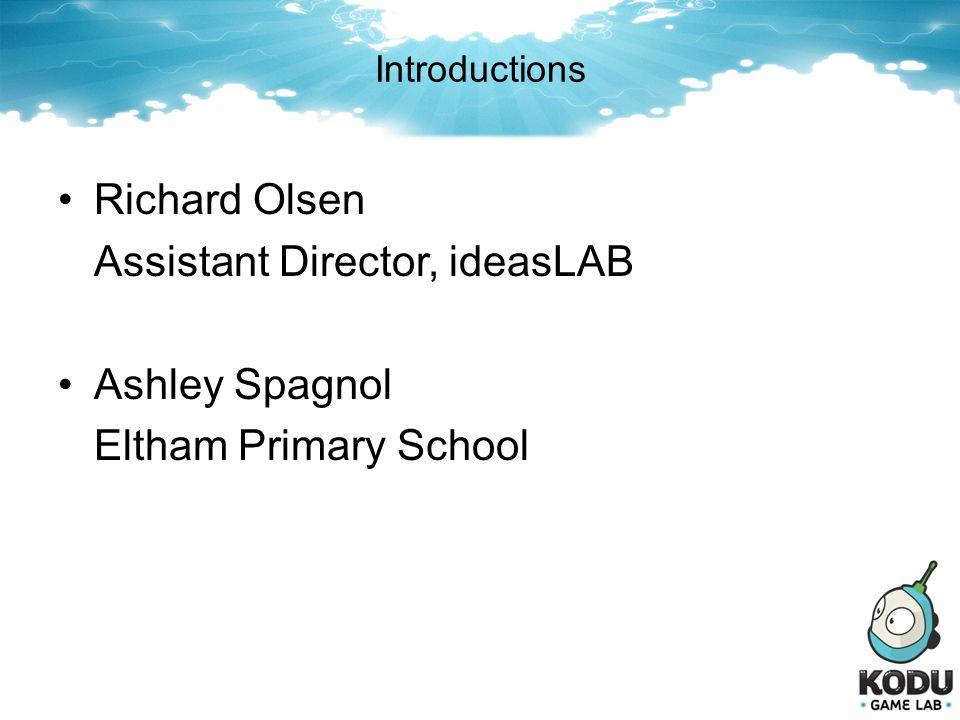 Assistant Director, ideasLAB Ashley Spagnol Eltham Primary School