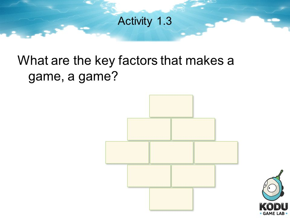 What are the key factors that makes a game, a game