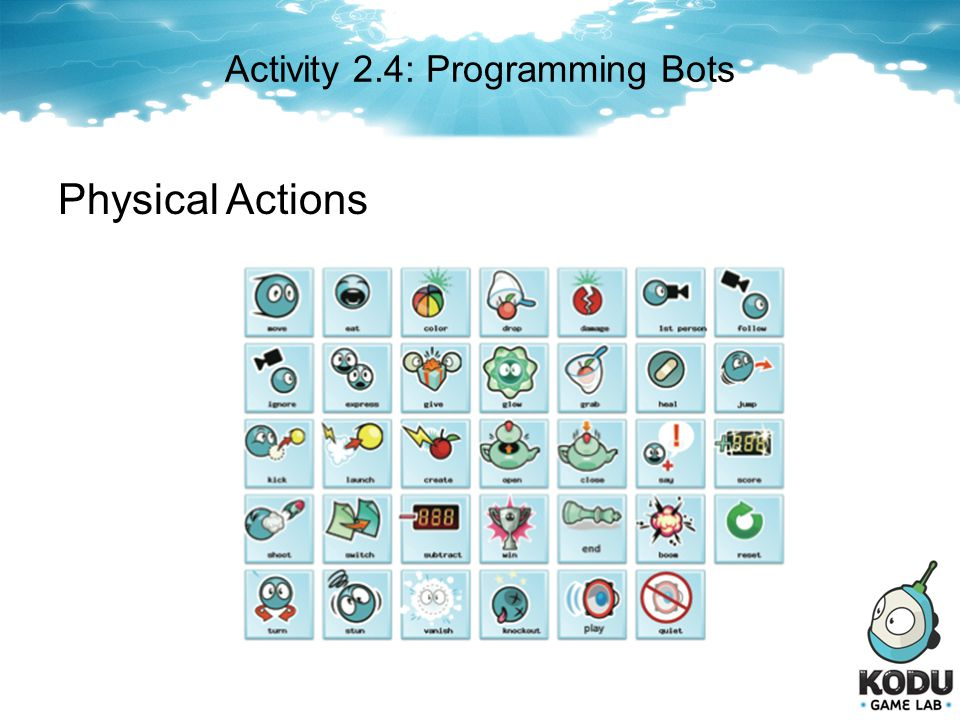 Activity 2.4: Programming Bots