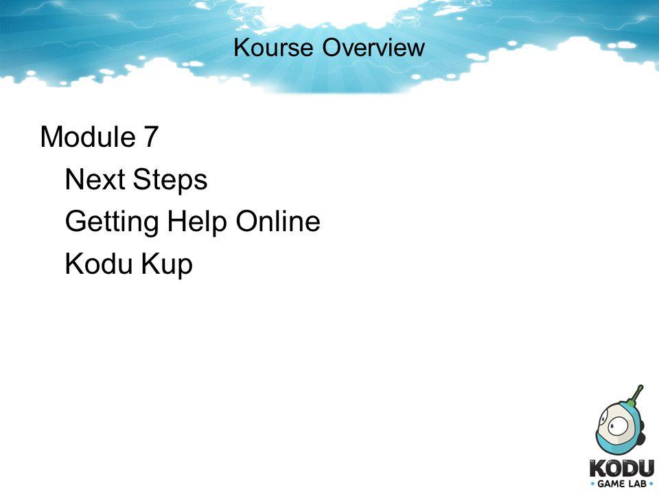 Module 7 Next Steps Getting Help Online Kodu Kup