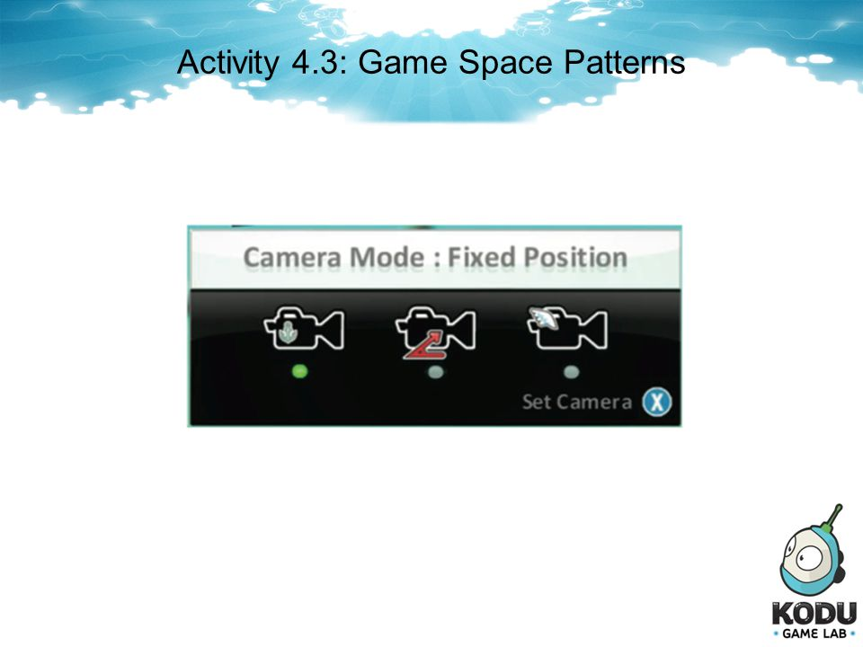 Activity 4.3: Game Space Patterns