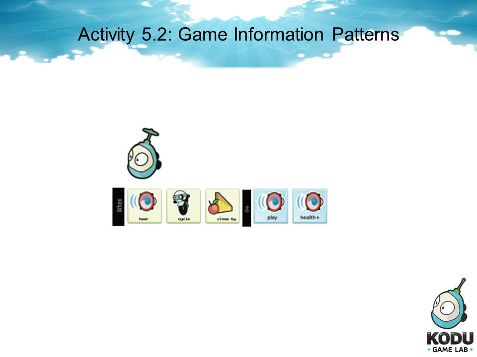 Activity 5.2: Game Information Patterns
