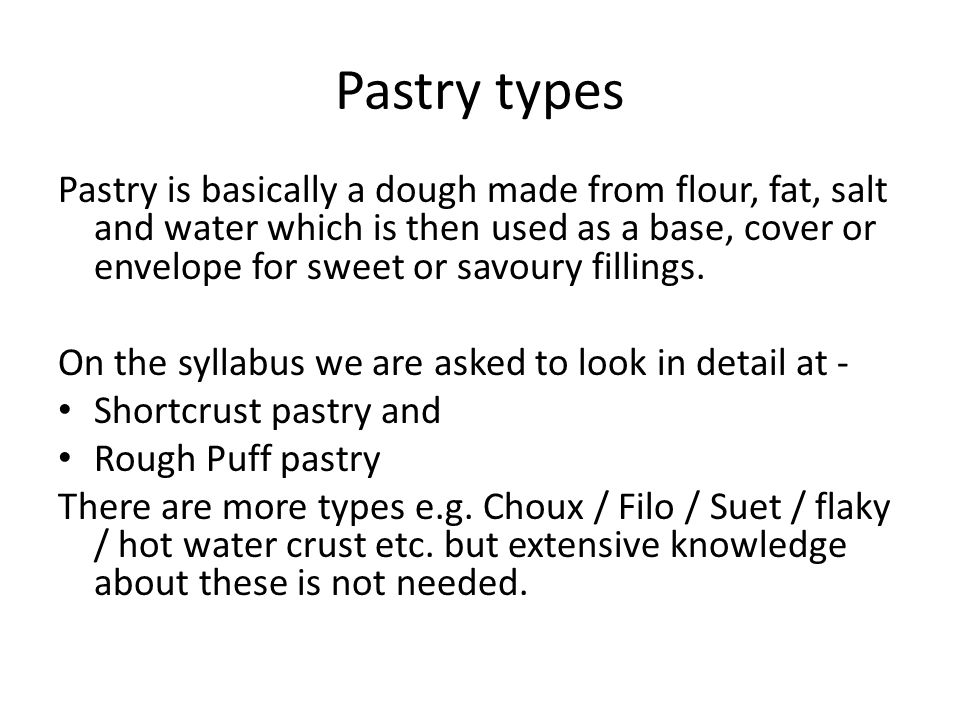 Pastry types