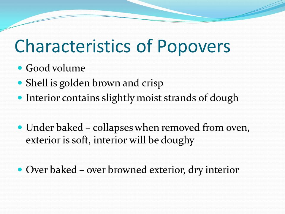 Characteristics of Popovers