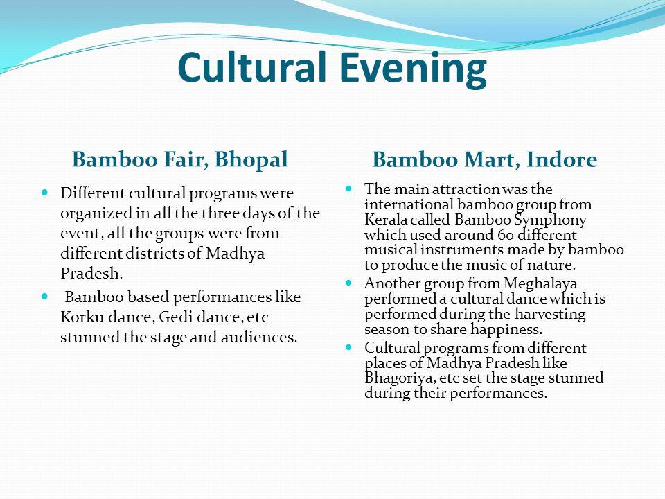 Cultural Evening Bamboo Fair, Bhopal Bamboo Mart, Indore