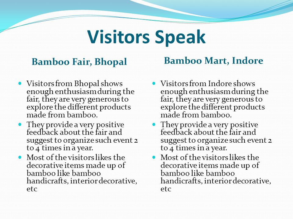 Visitors Speak Bamboo Fair, Bhopal Bamboo Mart, Indore