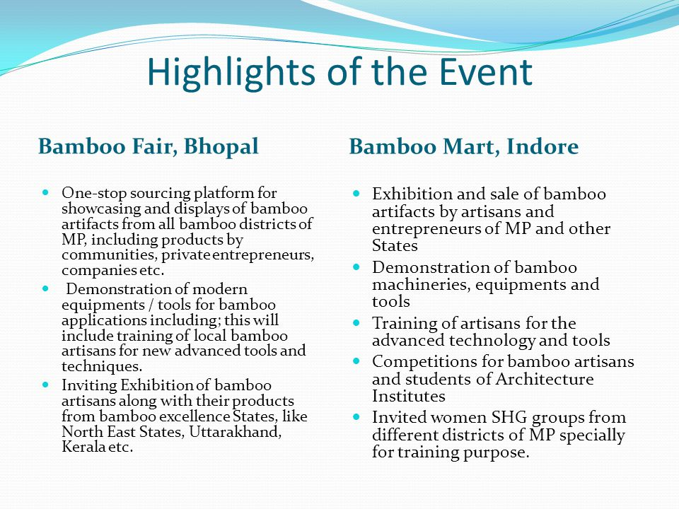 Highlights of the Event