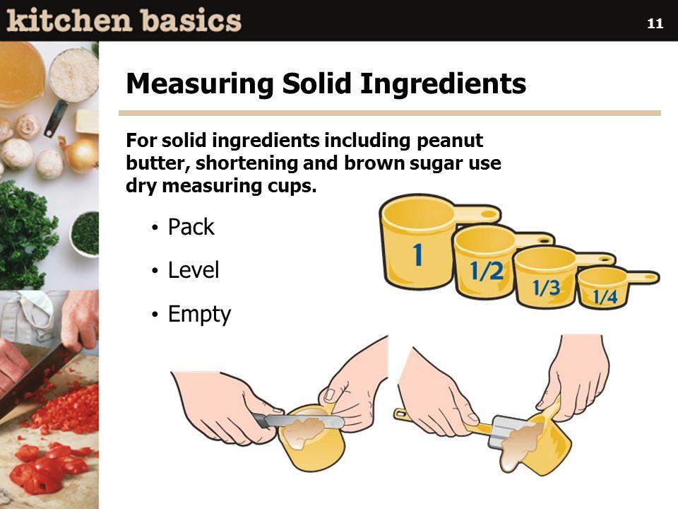 Measuring Solid Ingredients