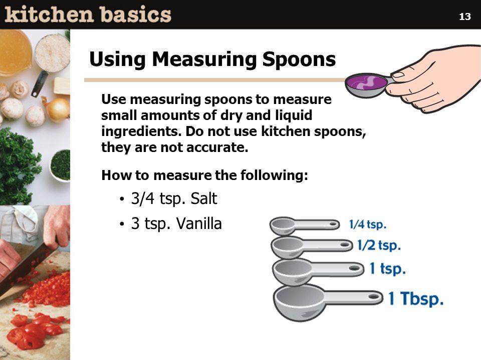 Using Measuring Spoons