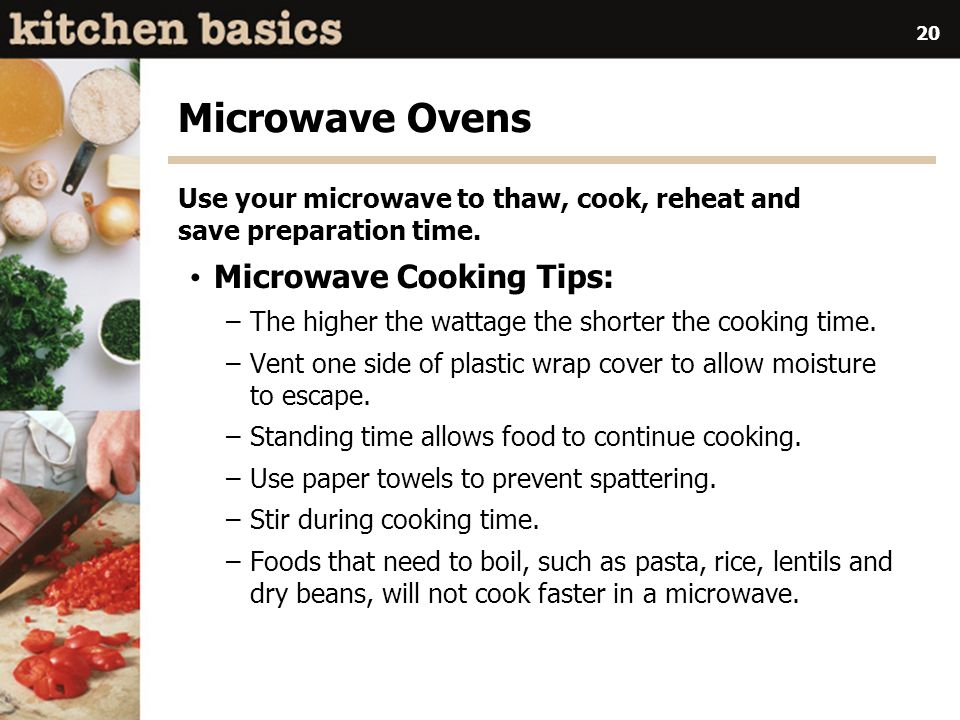 Microwave Ovens Microwave Cooking Tips: