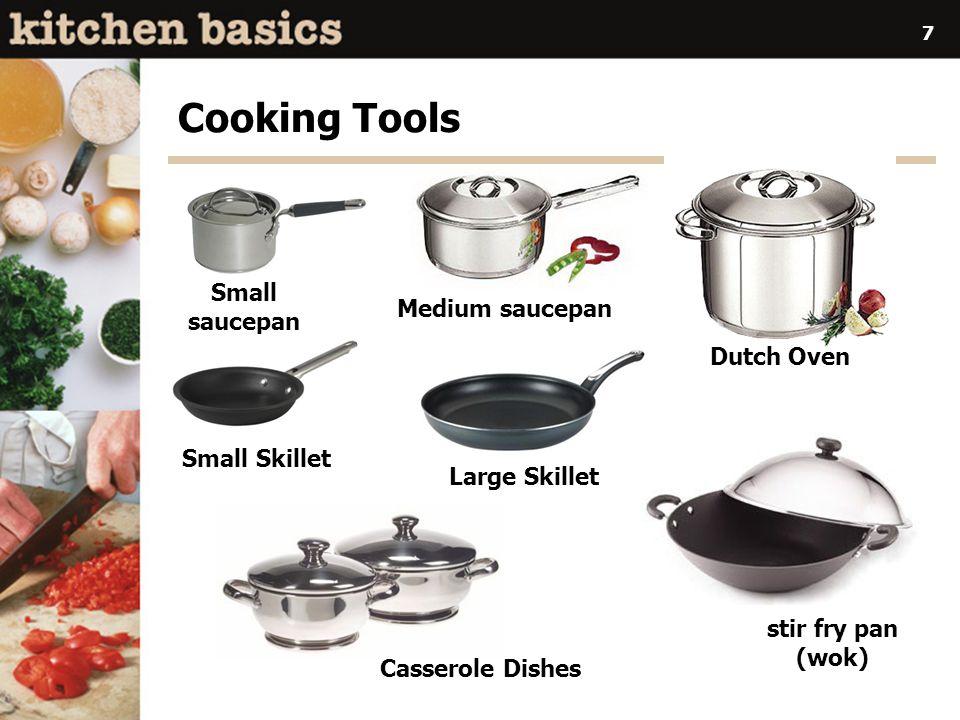 Cooking Tools Small saucepan Medium saucepan Dutch Oven Small Skillet