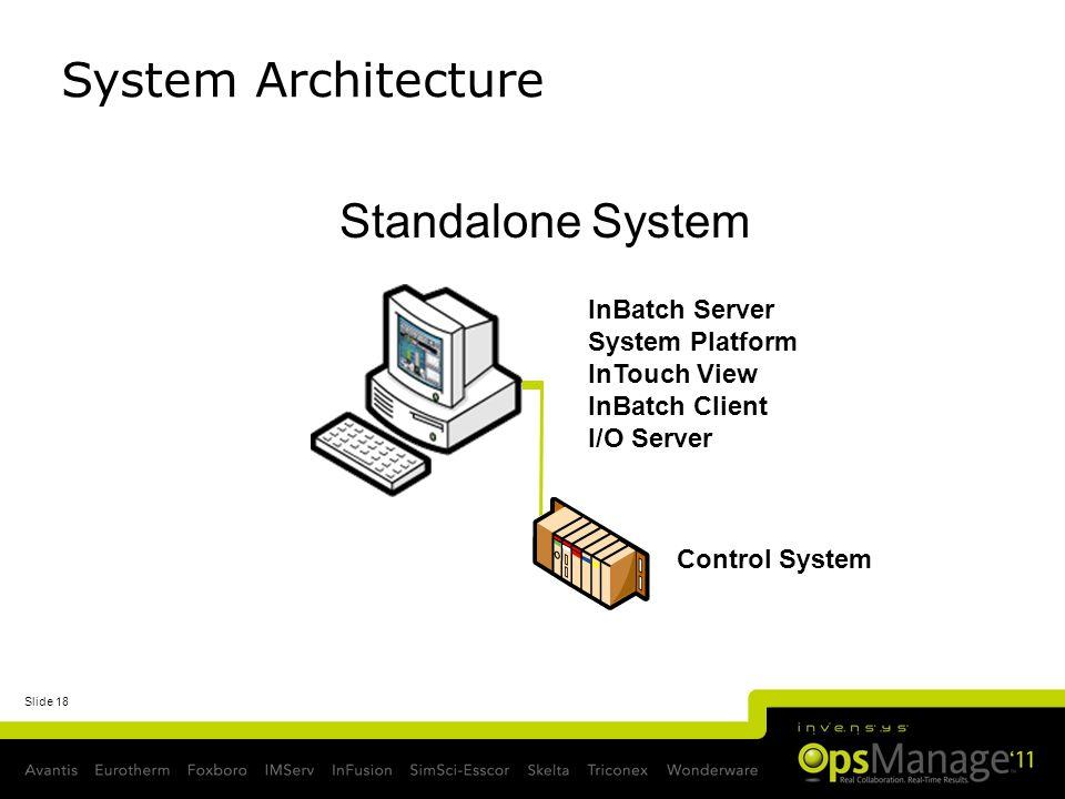 System Architecture Standalone System InBatch Server System Platform