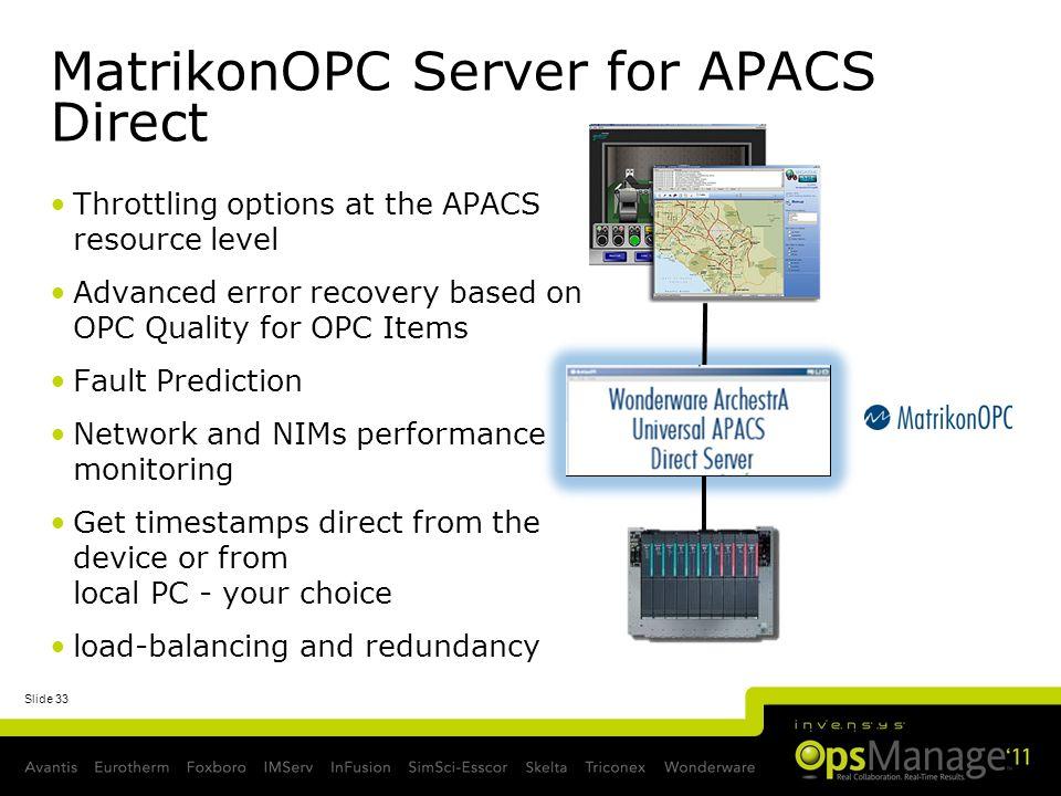 MatrikonOPC Server for APACS Direct