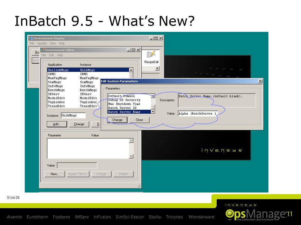 InBatch 9.5 - What's New