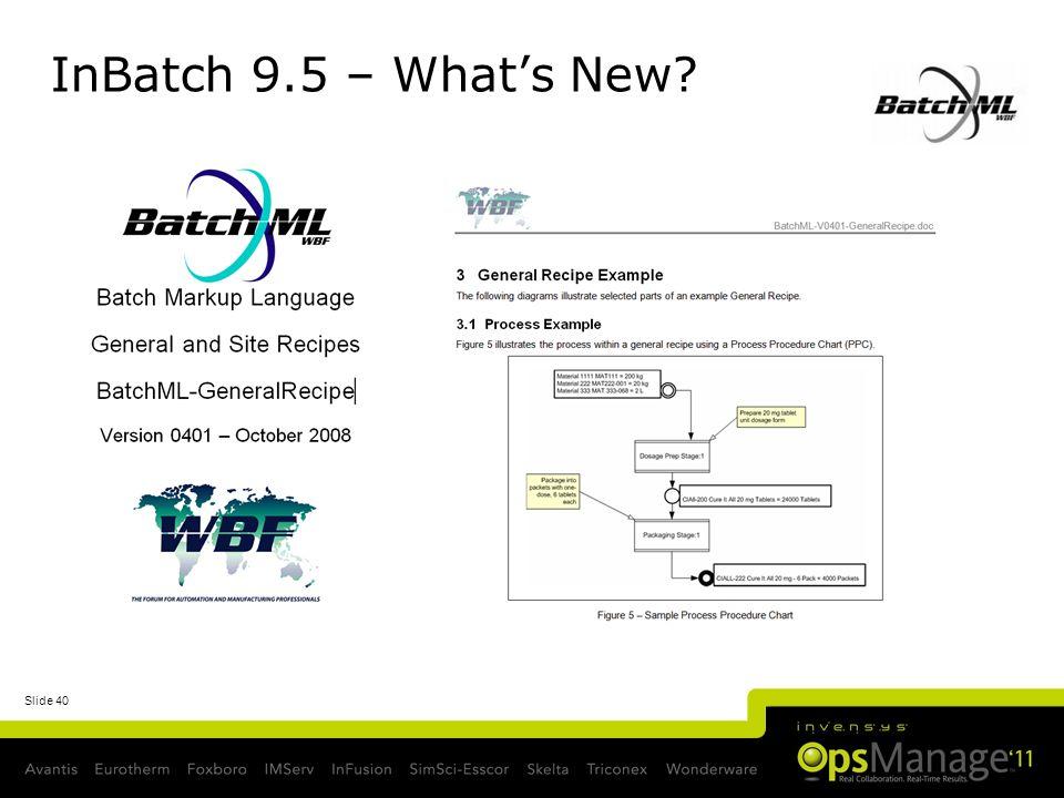 InBatch 9.5 – What's New