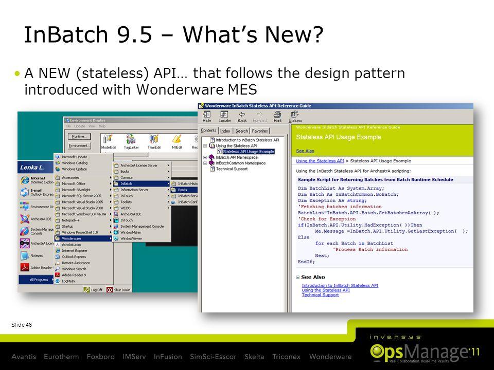 InBatch 9.5 – What's New.