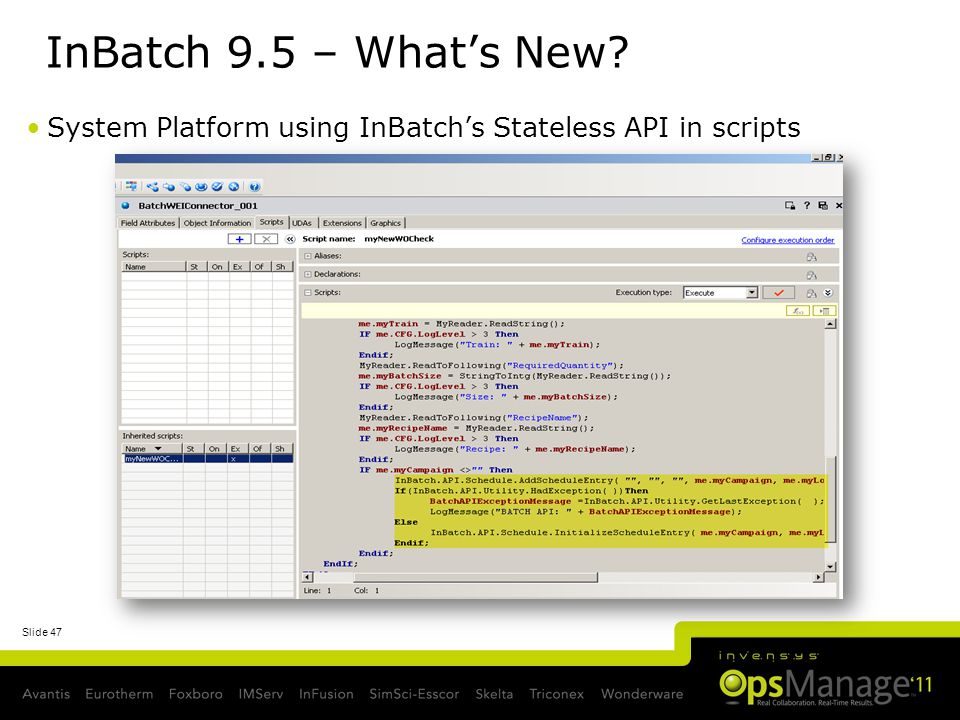 InBatch 9.5 – What's New System Platform using InBatch's Stateless API in scripts