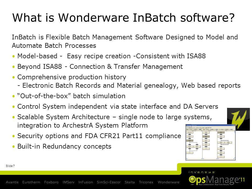 What is Wonderware InBatch software