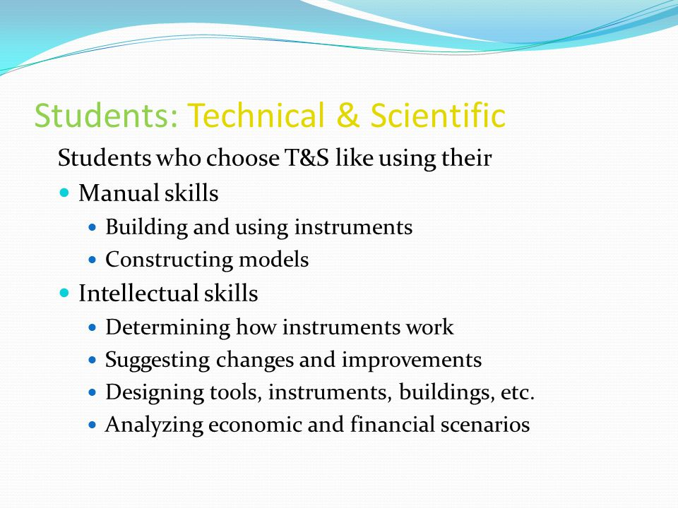 Students: Technical & Scientific
