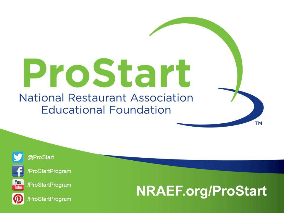 NRAEF.org/ProStart @ProStart /ProStartProgram /ProStartProgram