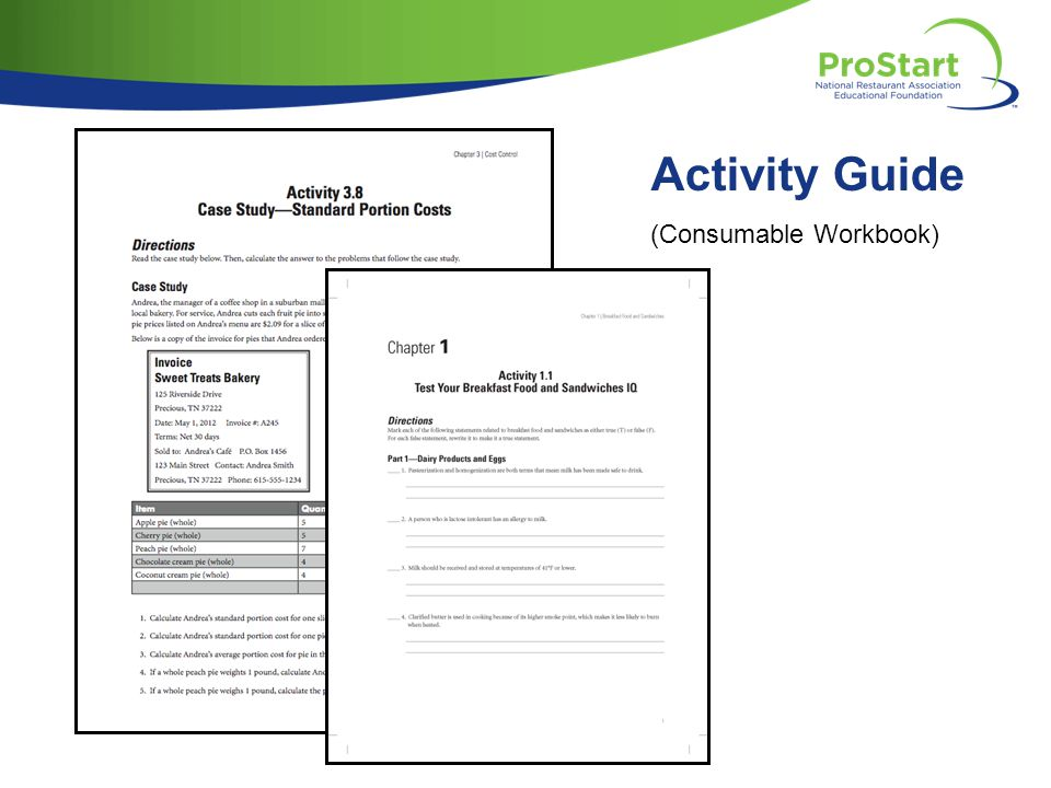 Activity Guide (Consumable Workbook)