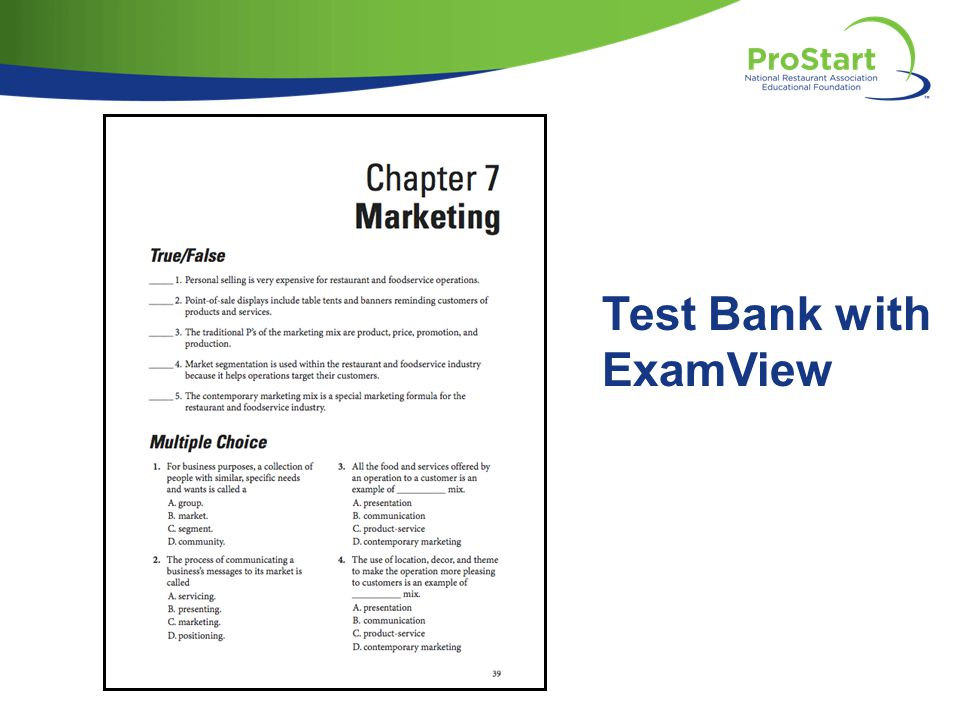 Test Bank with ExamView