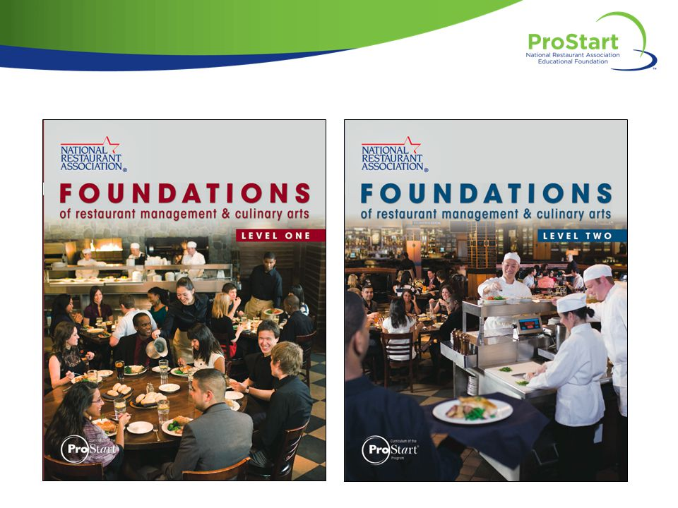 NARRATOR: Whether you are a ProStart teacher now or hoping to become one soon, the Foundations of Restaurant Management and Culinary Arts curriculum is an industry-driven curriculum that prepares high school students for a career in restaurant and foodservice management.