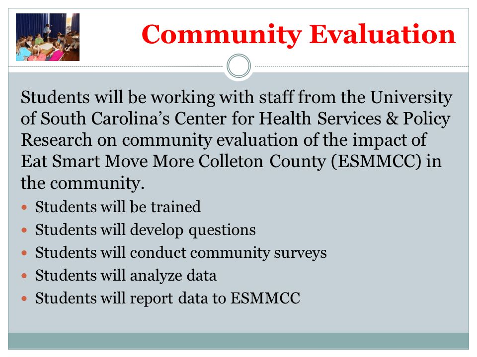 Community Evaluation