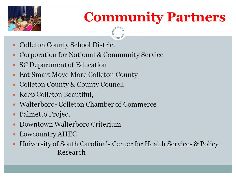 Community Partners Colleton County School District